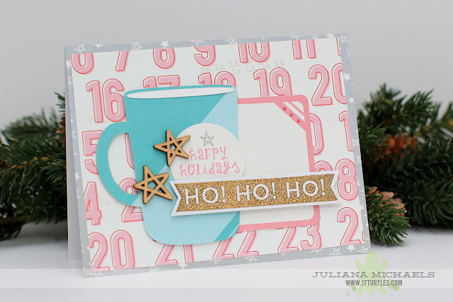 Ho Ho Ho Happy Holidays Coffee Mug Christmas Card by Juliana Michaels