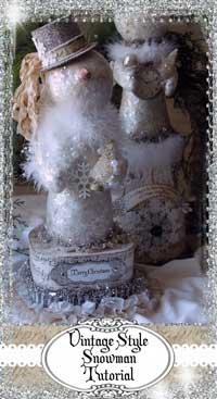 了解如何制作自己的复古雪人!