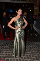 Rakul Preet Singh in Shining Glittering Golden Half Shoulder Gown at 64th Jio Filmfare Awards South ~  Exclusive 021.JPG