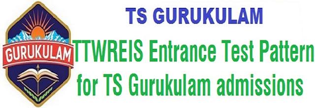 TTWREIS,entrance test pattern,TS Gurukulam admissions