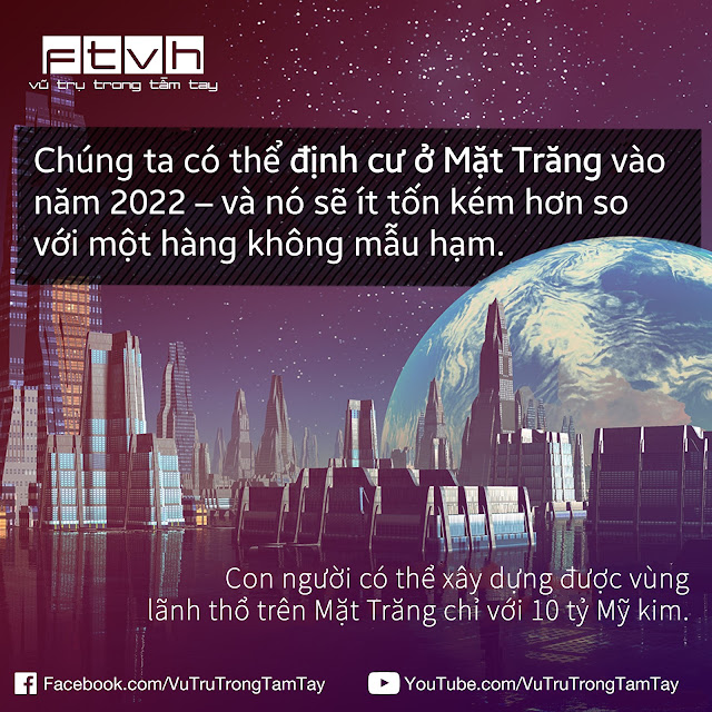 [Ftvh] Con người sẽ định cư lên Mặt Trăng vào năm 2022 ?