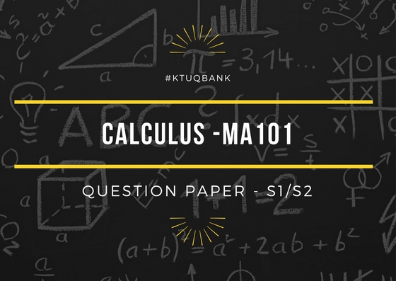 Calculus | MA101 | Question Papers (2015 batch)