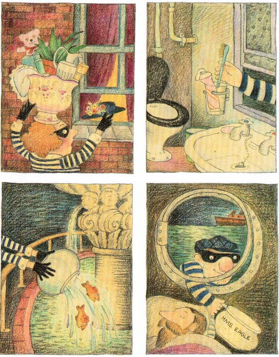Pictures From An Old Book Burglar Bill By Janet Allan Ahlberg