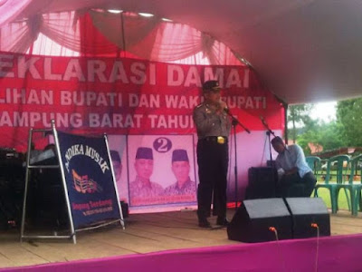 Diminta Sambutan Saat Adzan Dzuhur, Irwasda Polda Lampung Kejutkan Peserta Deklarasi Pilkada Damai