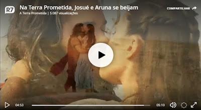 Josué e Aruna se beijam e o público vibra pelo casal