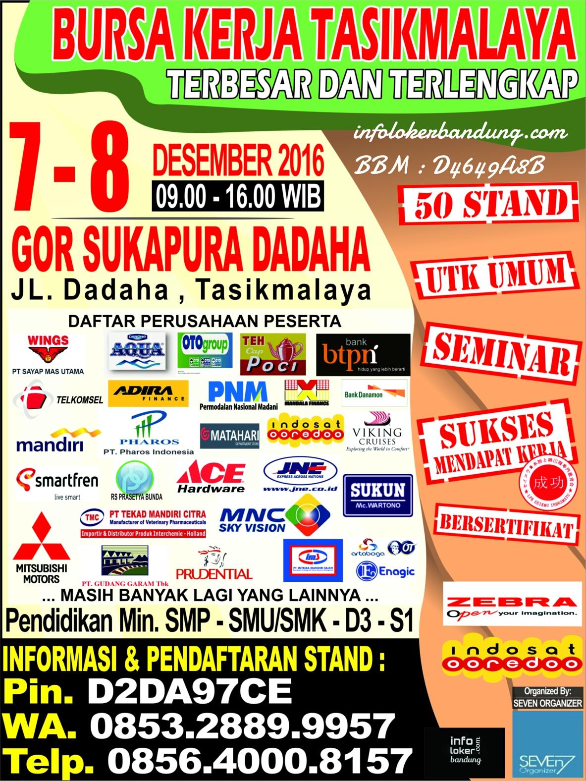 Job Fair Tasikmalaya 7 - 8 Desember 2016