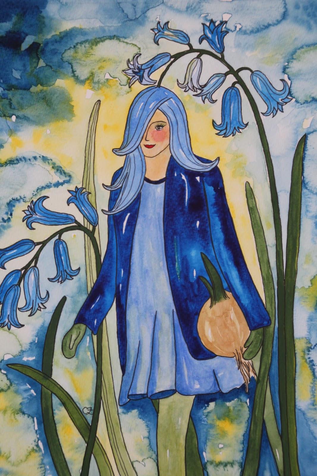 klockhyacint akvarell carolin zander