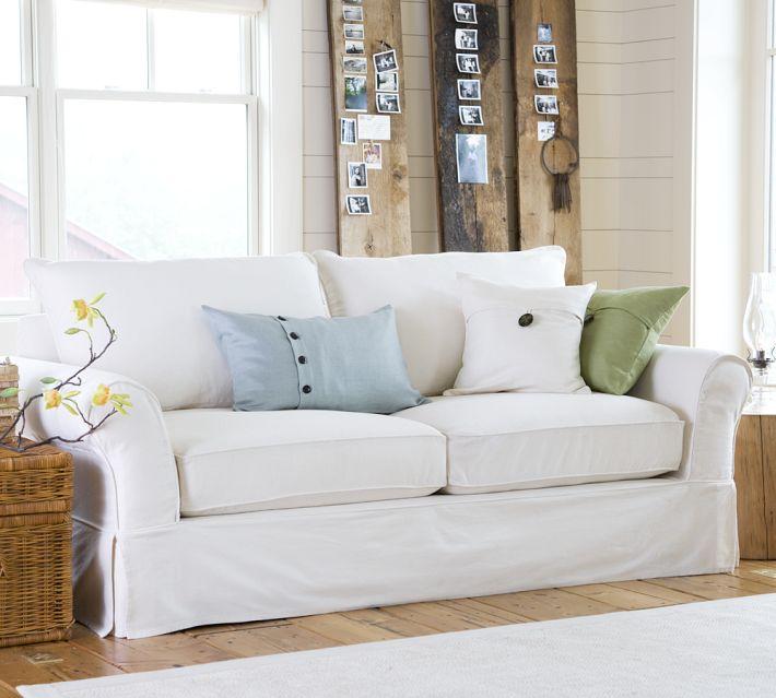pottery barn sofa review rowe slipcover nantucket family room furniture - carolina charm
