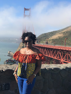 Jenee Darden at the Golden Gate Bridge