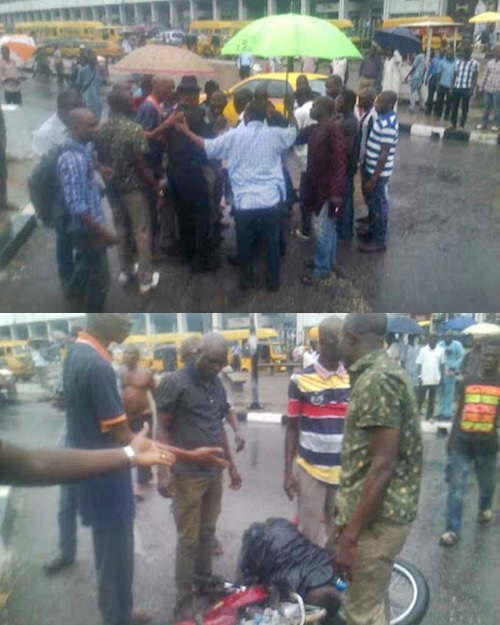 See How Policemen Beat an Okada Man to Pulp in an Attempt to Seize His Bike (Photos)