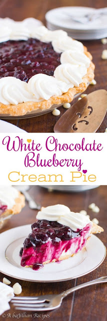 WHITE CHOCOLATE BLUEBERRY CREAM PIE