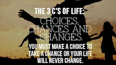Famous Quotes About Life Changes: choices chances and changes