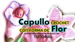 Capullo Bebé con forma de Flor / Tutorial Crochet