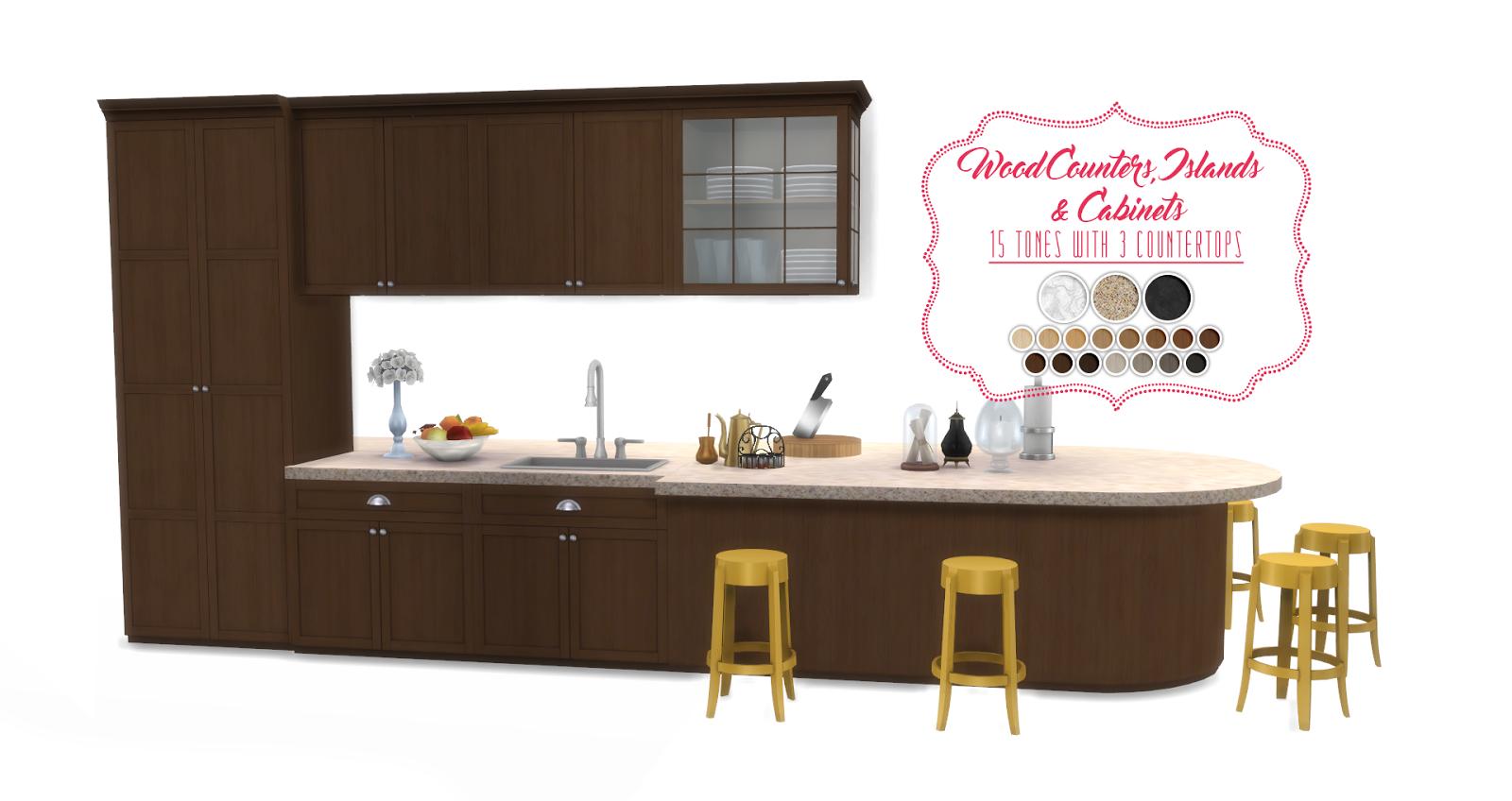 Simsational designs updated shaker kitchen for Kitchen 0 finance b q