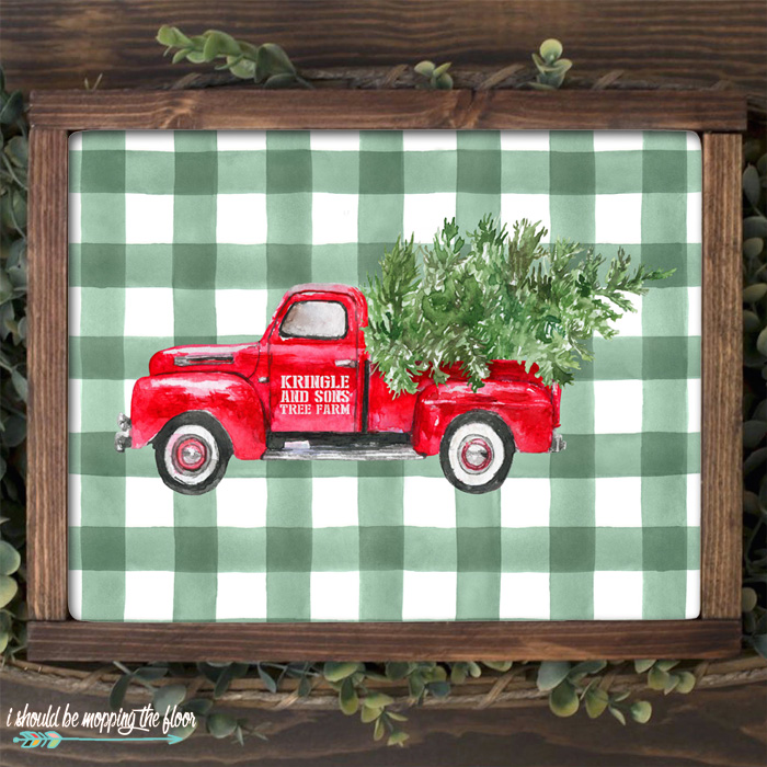 Red Christmas Truck Printablesi should be mopping the floor