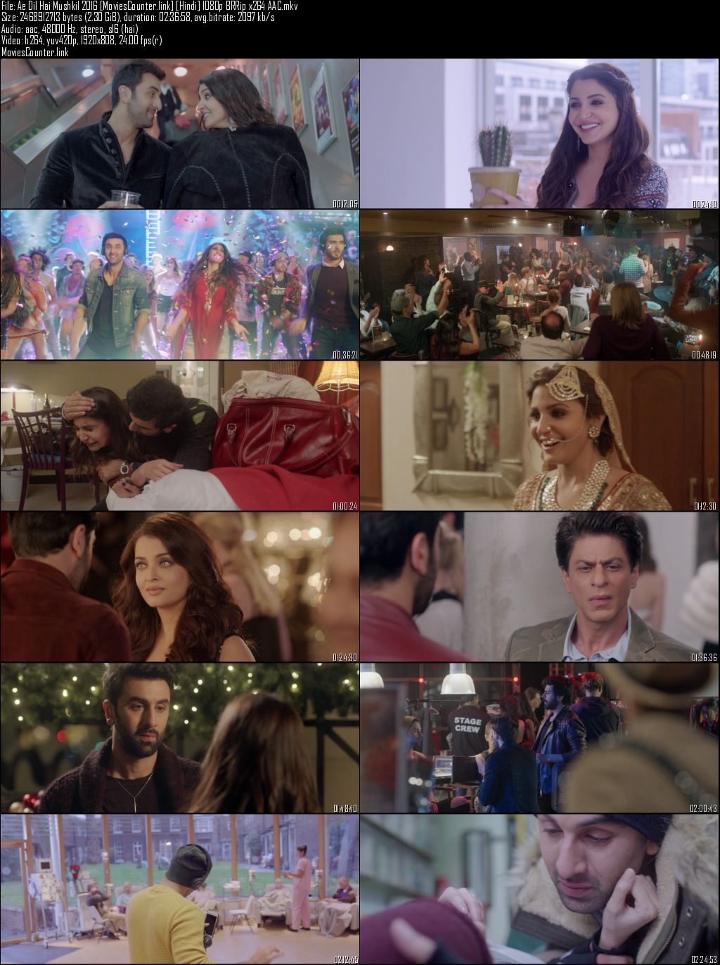 screen shot Ae Dil Hai Mushkil 2016 Hindi HD 1080p