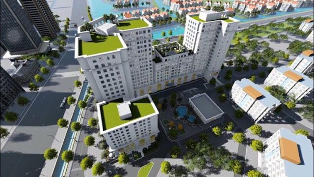 Phối cảnh tổng thể chung cư Eco City Long Biên