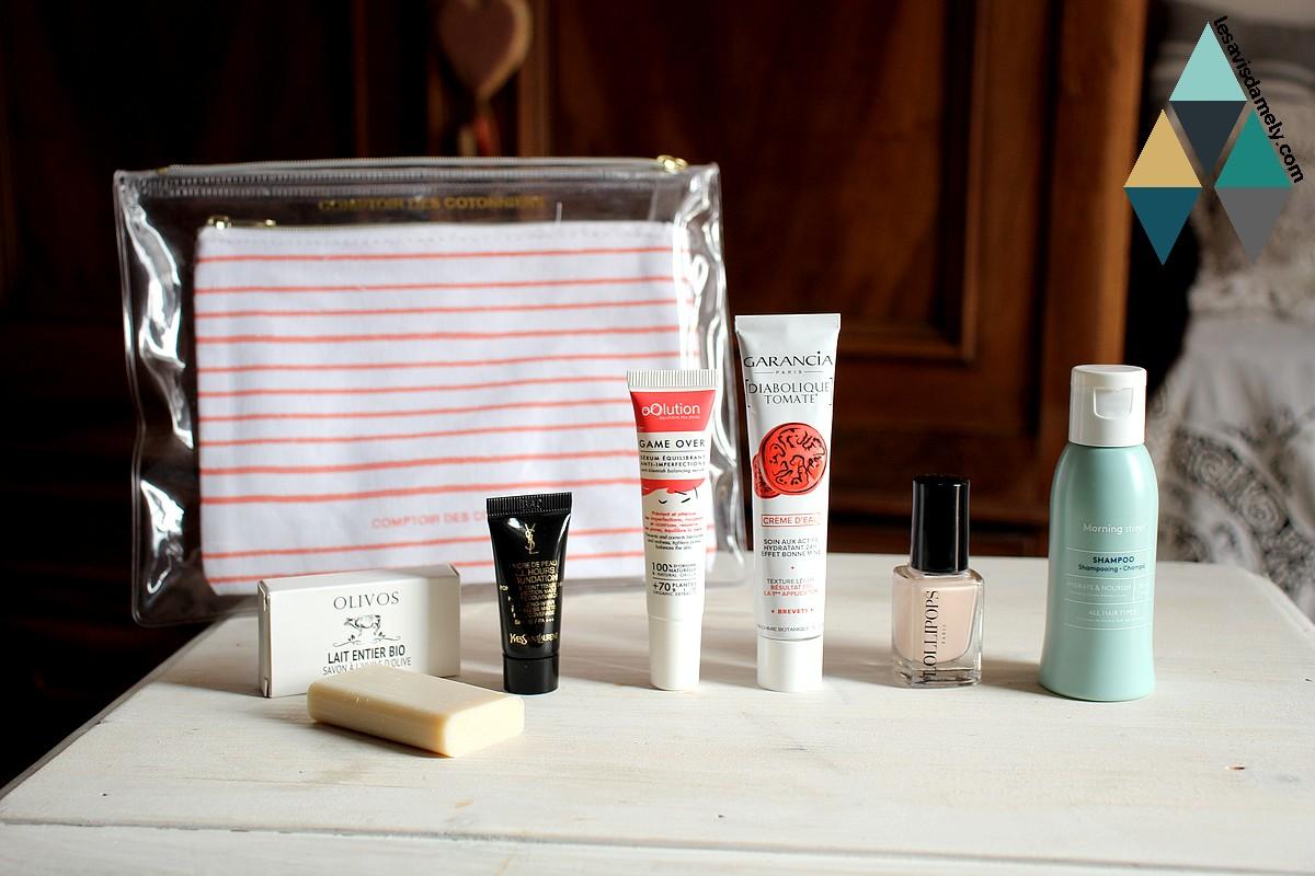 avis et test box beauté mensuelle Birchbox collaboration comptoir des cotonniers
