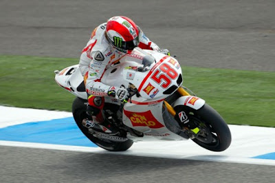Simoncelli ahold of Estoril in Two Free Practice Session