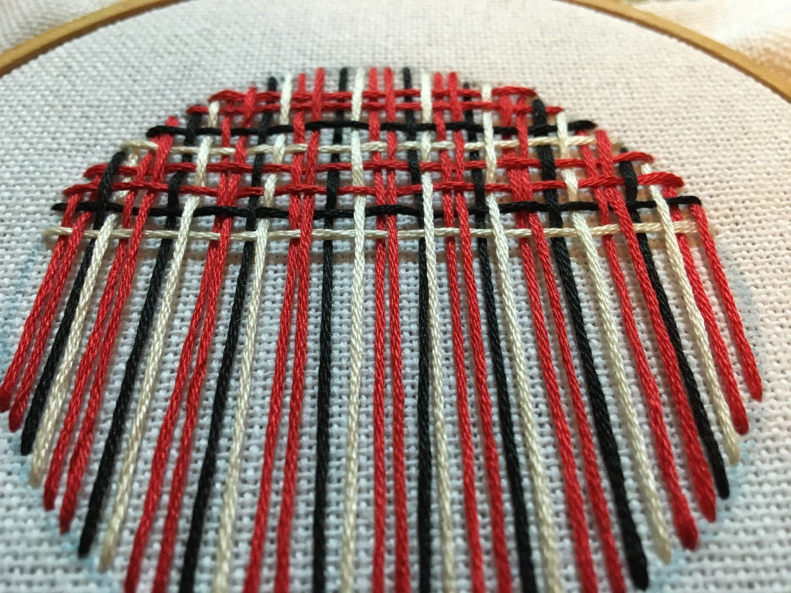 needle weaving plaid