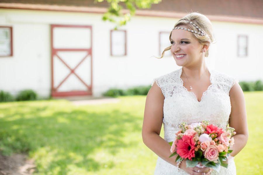 Rustic Pink and Navy Barn Wedding