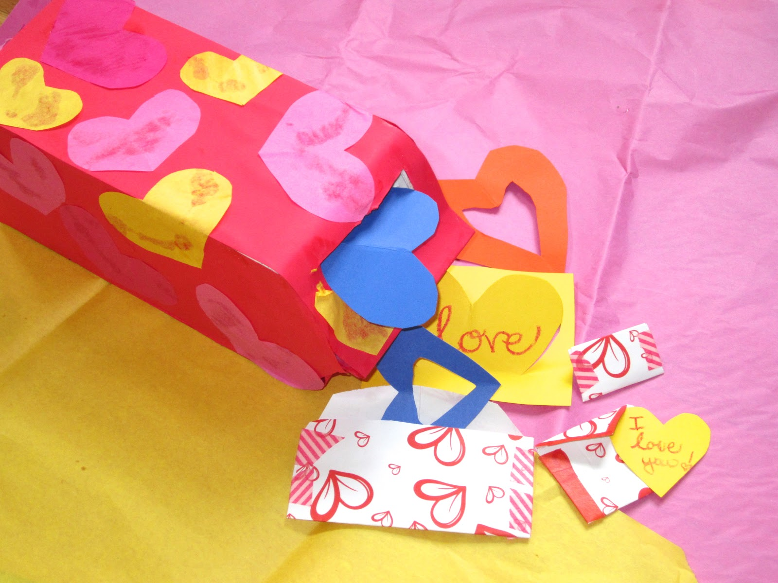 Supplies Tissue Paper Empty Milk Cartons Tissue Boxes Paper And . 1600 x 1200.Valentine Mailbox For Kids To Make