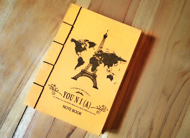 You Ni (a) Handmade Notebook Menara Eifell and world travelling
