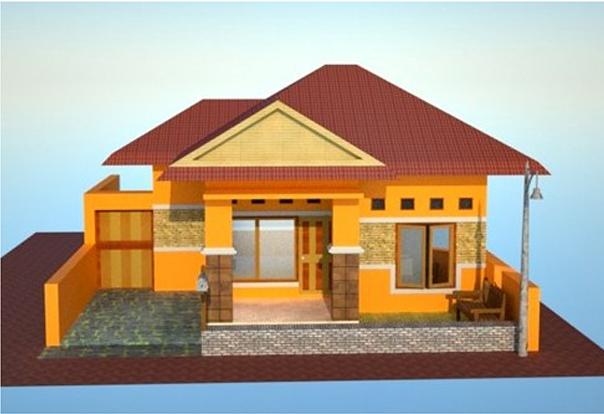 Desain Rumah Sederhana Nuansa Cerah