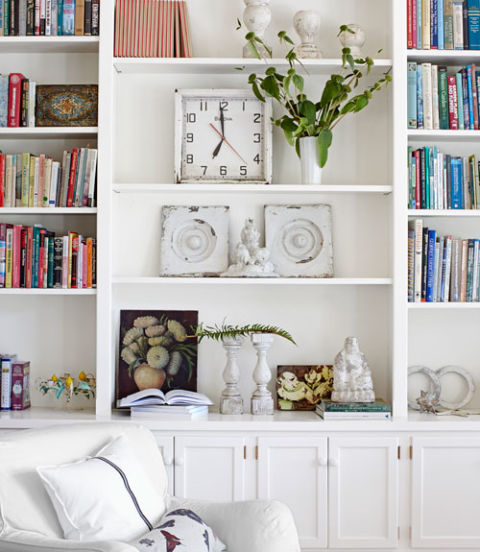 architectural salvage in bookcases