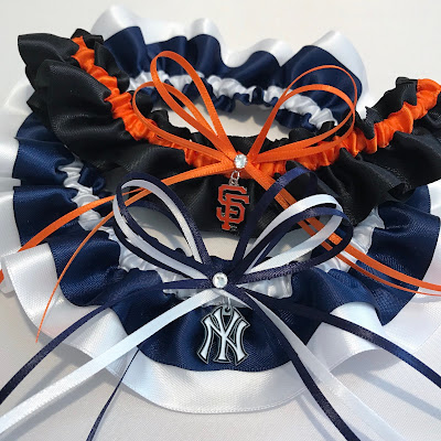 Baseball Themed Wedding Garters by Sugarplum Garters