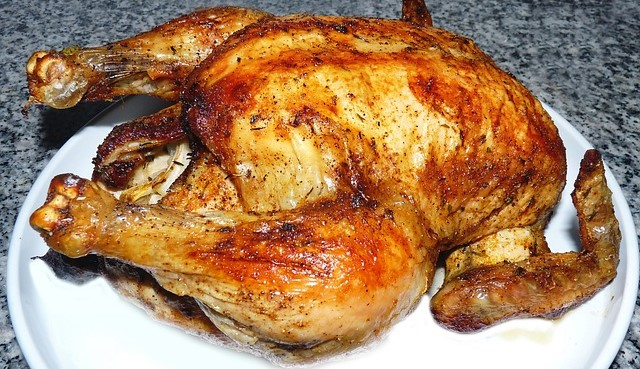 Rotisserie Chicken Cooked and Uncarved