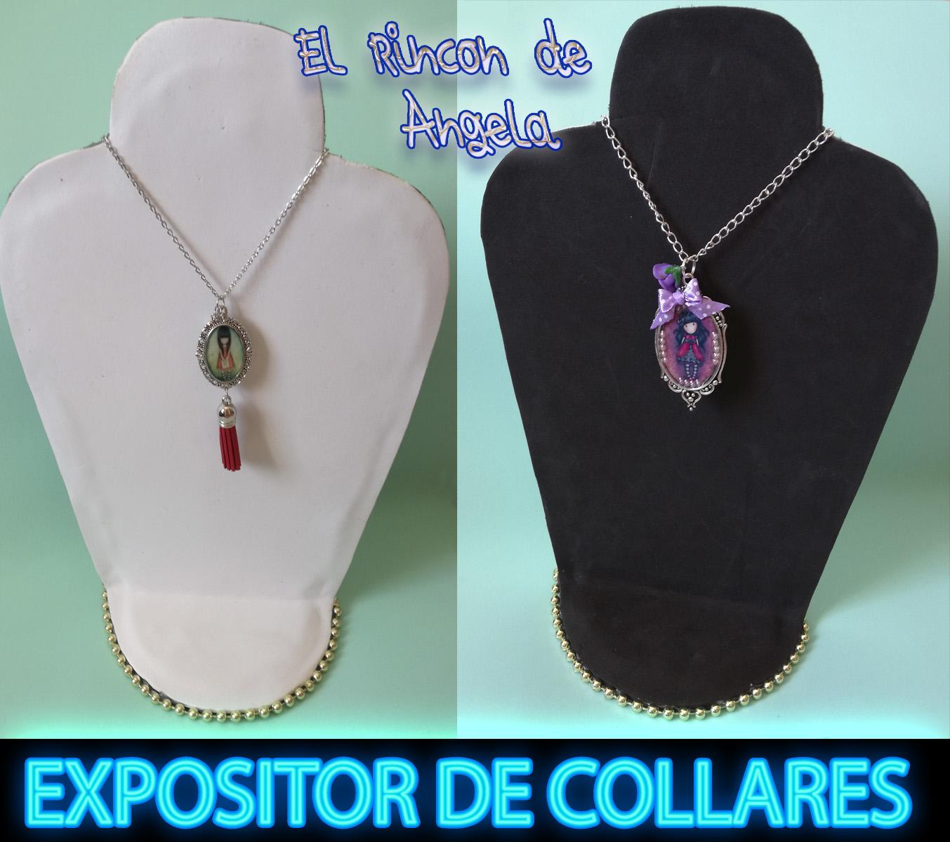 17e3fb9f5184 Como hacer un expositor de collares. Exhibidor de collares. Porta collares.  Necklace Display