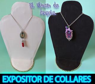ffe51fa4a0df Como hacer un expositor de collares. Exhibidor de collares. Porta collares.  Necklace Display