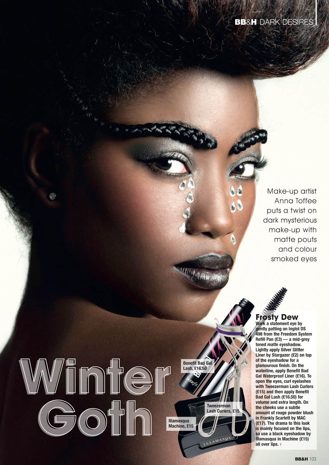 Black Beauty and Hair Magazine Spread | Chanel Ambrose