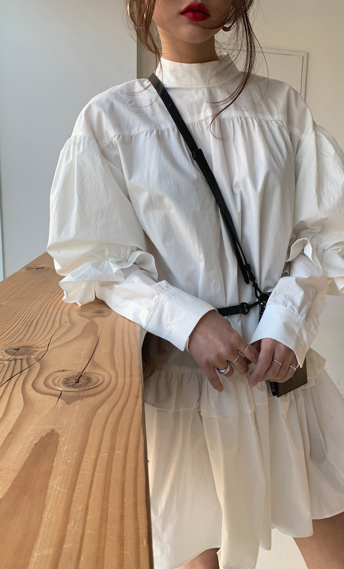 White Frilled Cotton Dress