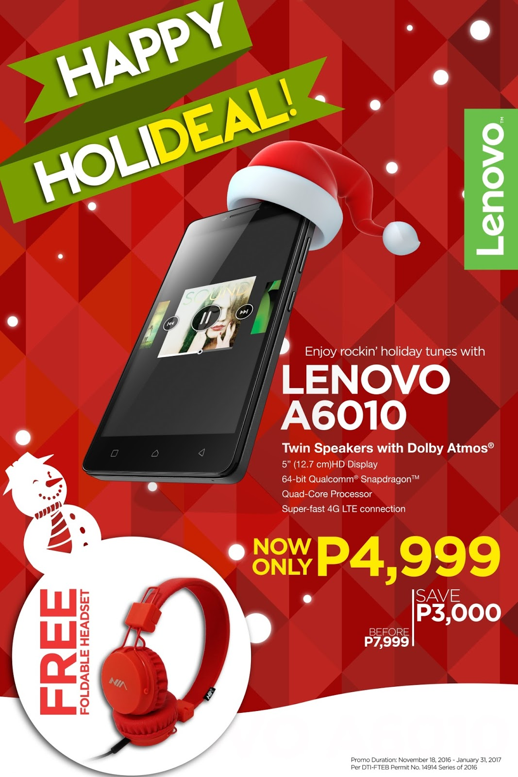 Lenovo Happy HoliDeal Promo