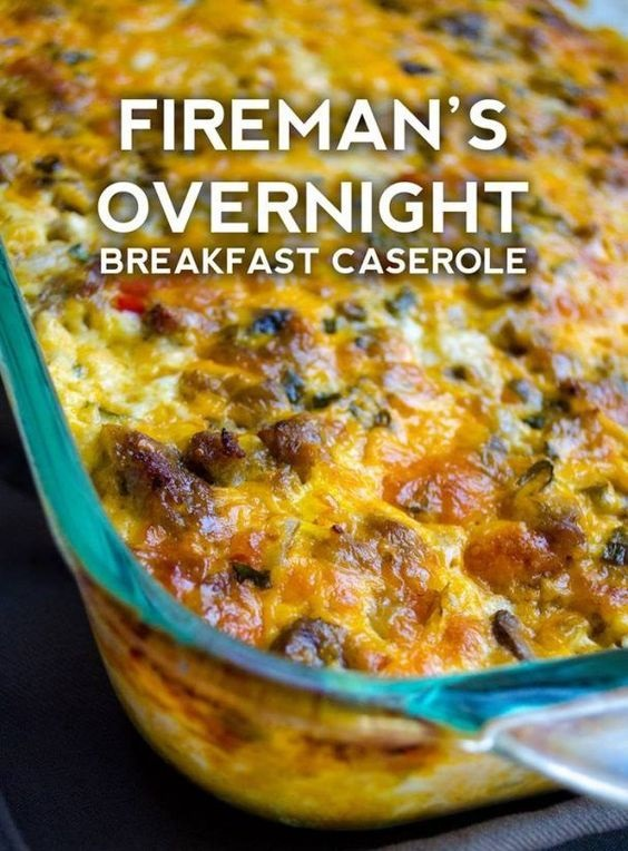 Fireman's Overnight Breakfast Casserole With Country Gravy