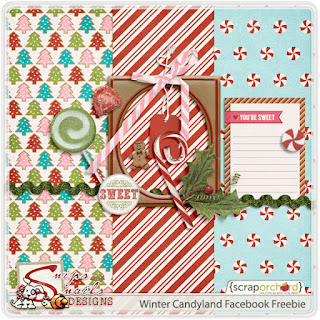Winter Candyland Facebook Freebie by Snips and Snails Designs