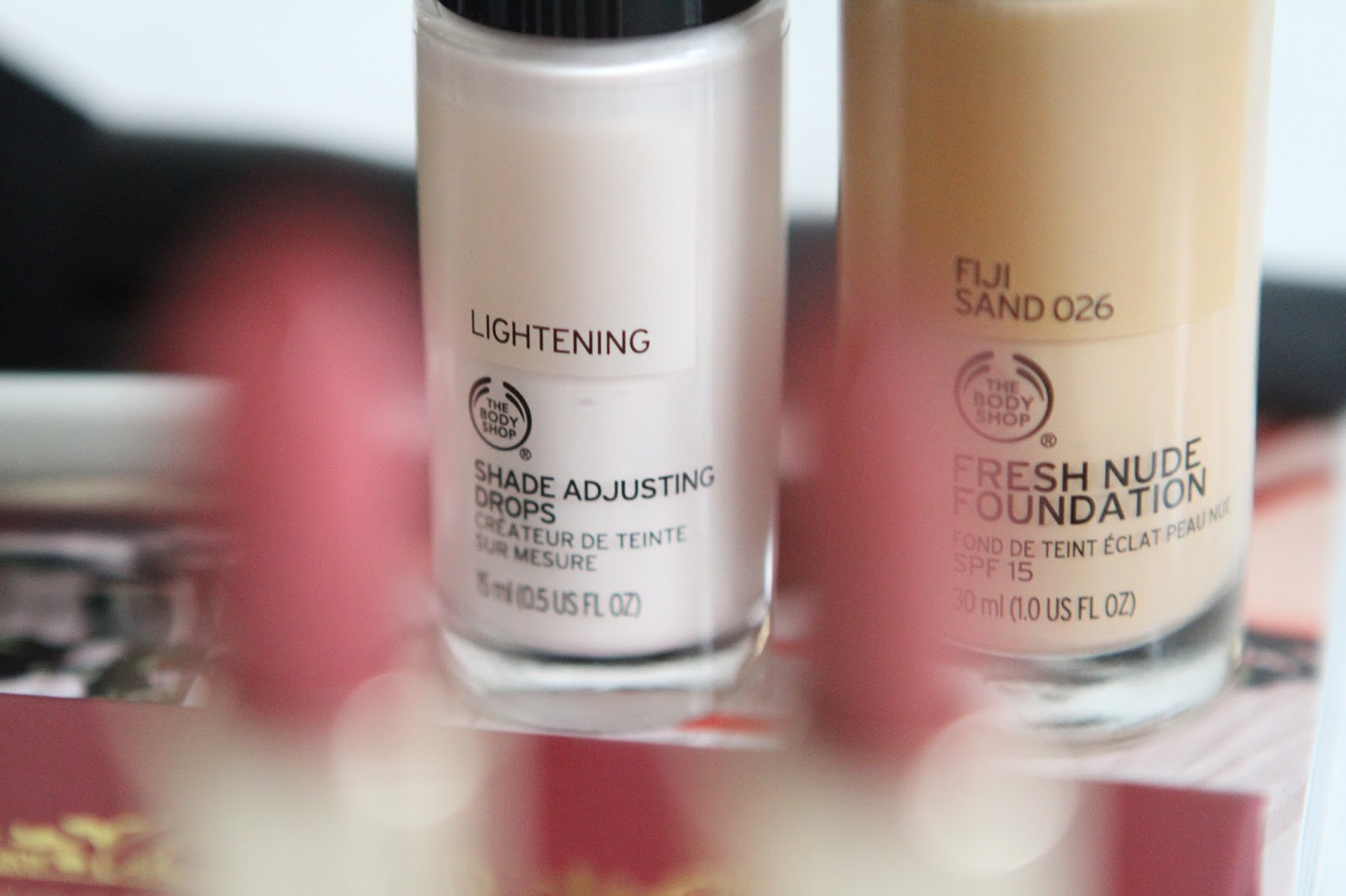 The body shop fresh nude foundation and lightening drops