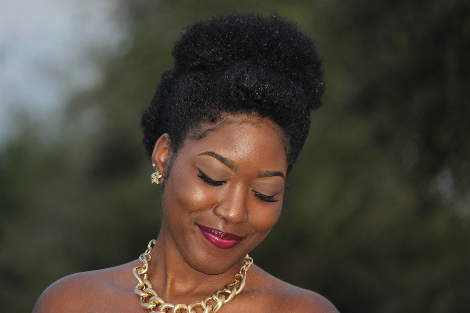 Birthday Updo For Medium To Short Natural Hair