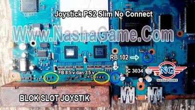 Slot Stik PS2 Slim Tidak Fungsi