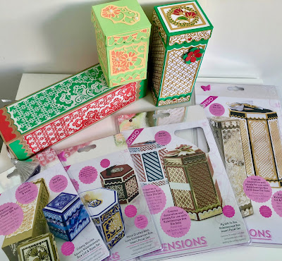 Tonic Studios Kaleidoscope boxes and die sets