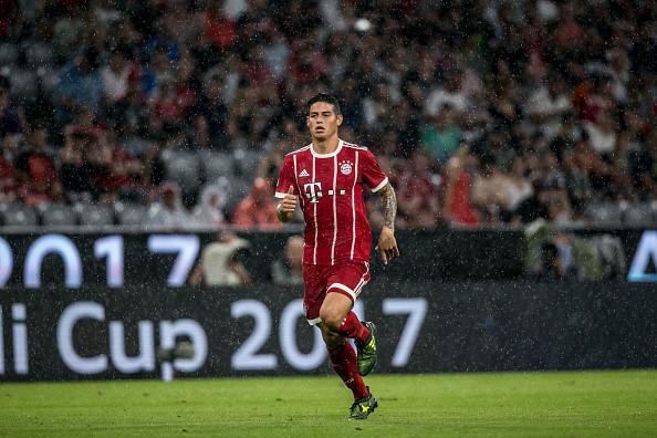 Tiền vệ James Rodriguez dính chấn thương trong trận gặp Liverpool