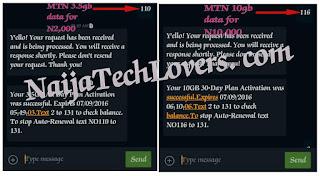 MTN 3.5gb & 10gb data plans