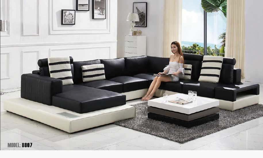 Black And White Sofa Set Designs For Modern Living Room Interiors (10)