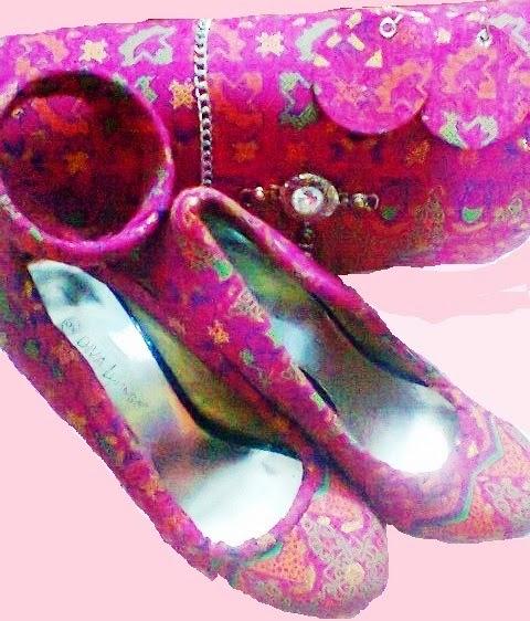 ankara wrapped shoes
