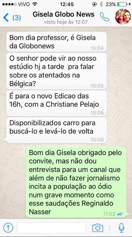 """O plim plim da Globo é rejeitado duas vezes: """"Não faz jornalismo"""""""