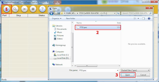 langkah-langkah Load file factory download tool