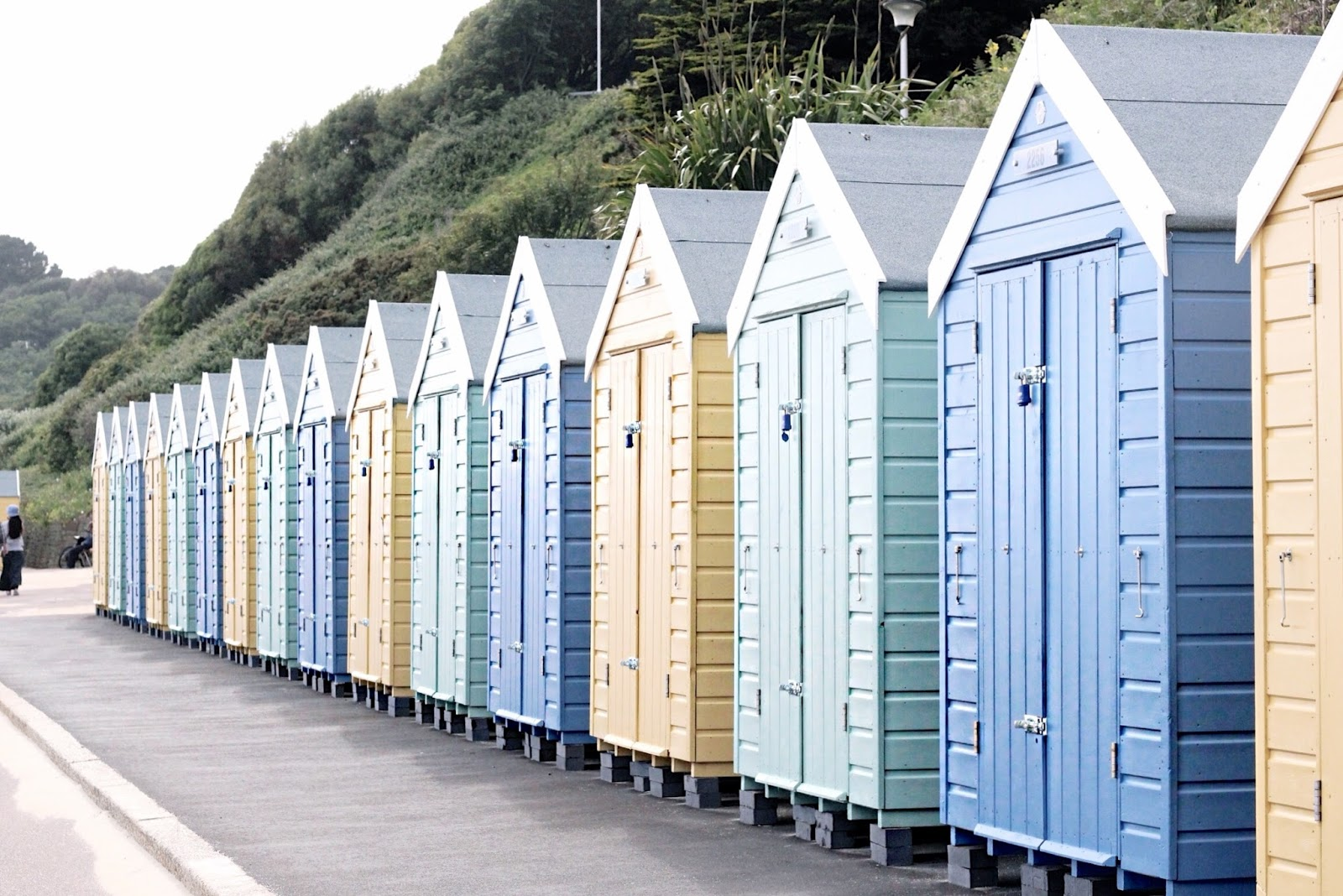 Colourful beach huts in Bournemouth