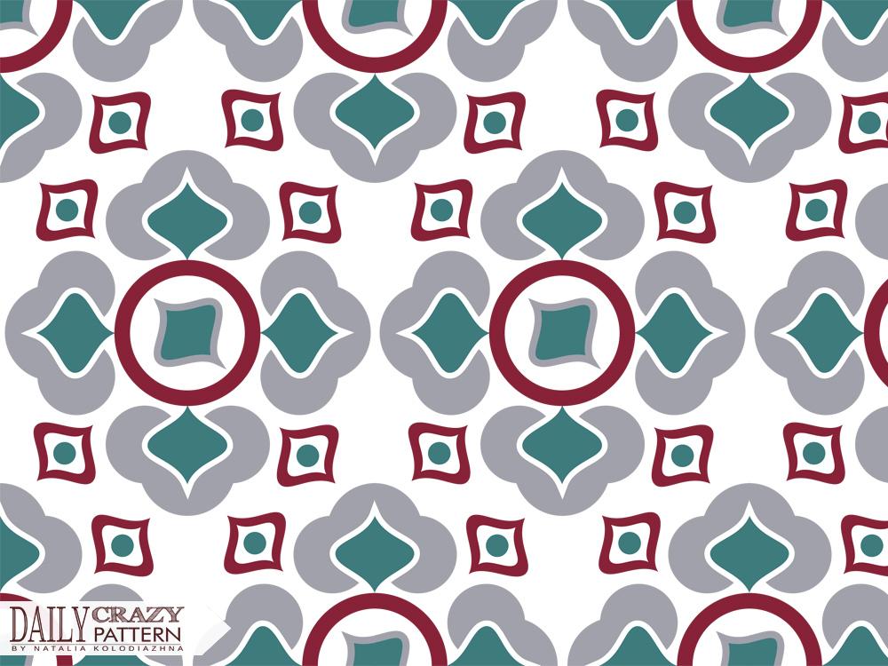 Oriental pattern on white background